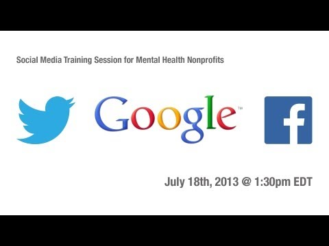 Social Media Platform Training for Nonprofit Mental Health Organizations at Google DC