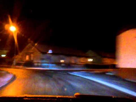 Driving around patna in ayrshire scotland at night
