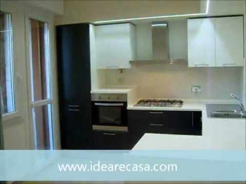 Ristrutturazione Cucina e Soggiorno, con Led e Grès - YouTube