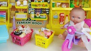 Baby doll mini mart and car toys Shopping play 리카짱 미니 마트와 쇼핑 아기인형 자동차 장난감놀이 - 토이몽