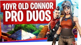 Going Pro in Duos with 10 Year Old Connor! - Fortnite New Pro Duos Partner