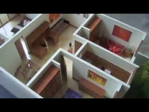 Maqueta casa guatemala desmontable y amoblada escala 1 for Muebles a escala 1 50 para planos