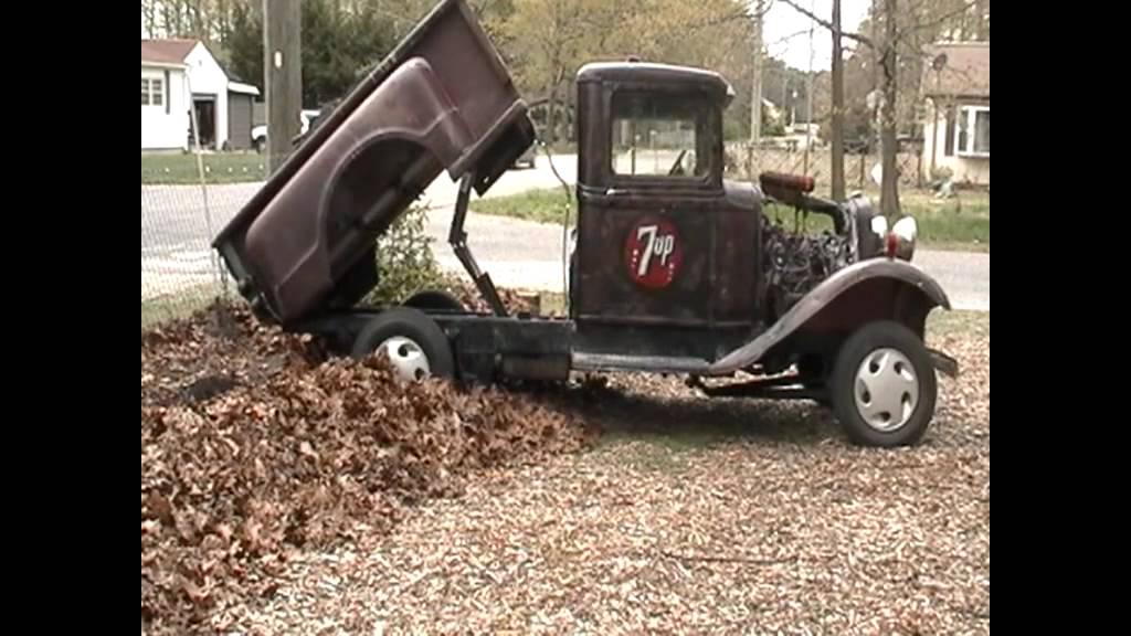 Hot Rod Dump Truck Rod Pickup Truck Dumping