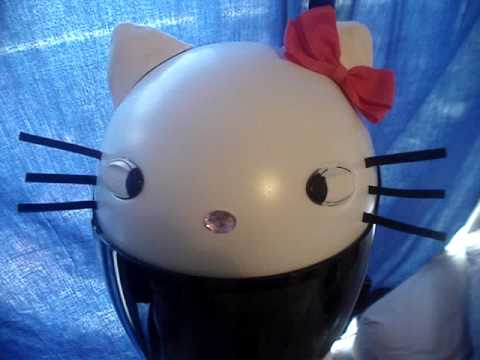 Hello Kitty Crash Helmet Hello Kitty Motorcycle Helmet