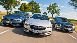 2018 Volkswagen Passat Variant vs 2018 Opel Insignia Sports Tourer vs 2018 Skoda Superb Combi