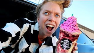 Trying ZOMBIE STARBUCKS Frappuccinos!