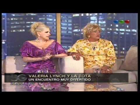 La Tota y Valeria Lynch con Susana Gimenez