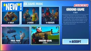 "*NEW* ""GROUND GAME"" LTM in Fortnite Battle Royale! (*NEW* Fortnite ""Ground Game"" GAME MODE)"