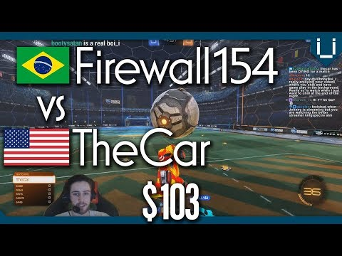 Ridiculous Double Save | Firewall154 vs TheCar | $103 Rocket League 1v1
