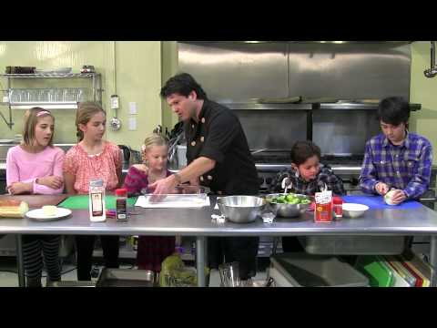 The Culinary Dude makes Broccoli Pudding with kids