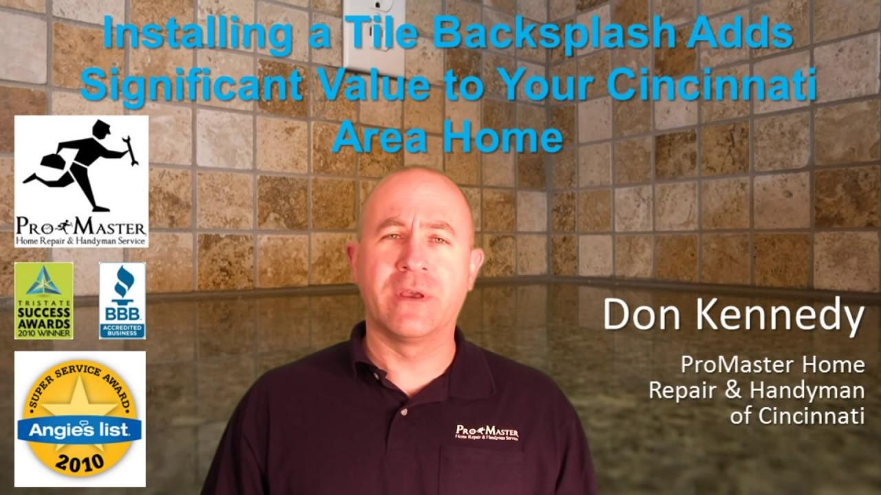 installing a tile backsplash adds significant value to your cincinnati