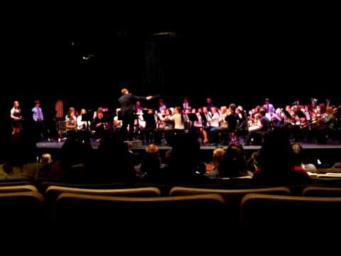 This is the Quad County 2010 Senior Band performing the final selection, James Swearingen's Blue Ridge Saga, directed by Josh Gall. 'Quad County Band' is a yearly event involving students...