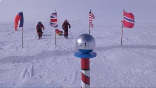 Father and son trek to South Pole using only renewable energy