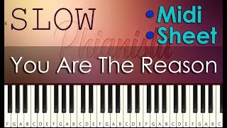 Calum Scott - You Are The Reason Slow Piano Tutorial | With Piano Sheet and Midi Download