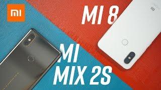 So sánh Xiaomi Mi8 & Mi Mix 2S