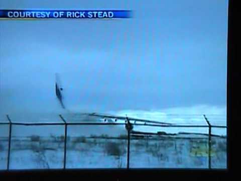 Russian Antonov 124 plane off runway at Gander, Canada