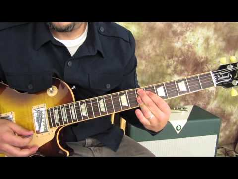 Rock - Blues - Guitar Lesson - Blues Turnaround - Gibson Les Paul