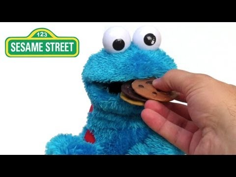 Cookie Monster Eating Playskool Sesame Street Countn Crunch, Monstruo De Las Galletas - Lababymusica video