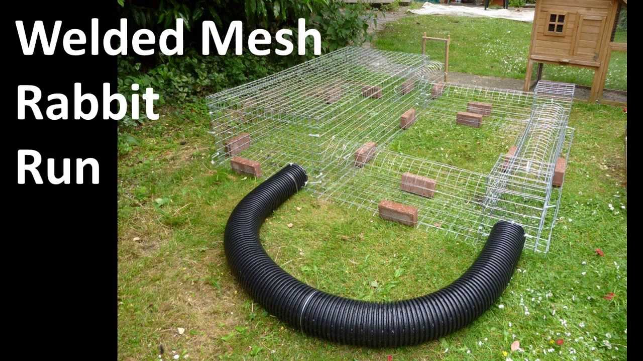 Building a wire mesh rabbit run youtube Make your own bunny house