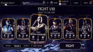 1.5 Update Jason Voorhees Gameplay MKX Ios Android up to level 20