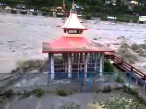 Washed  Temple in Uttarakhand June 2013