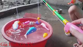 Đồ chơi câu cá cho trẻ em | Cu Boy Câu Cá Giang Lận Và Cái Kết | Fishing toy playset Kids toys