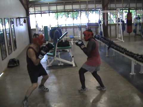 Gerner Jessen sparring - in PNG - My awesome dad