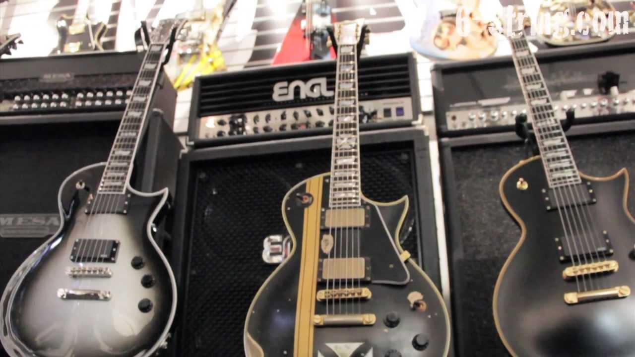 Rare Electric Guitars >> ESP Iron Cross James Hetfield Electric Guitar (#1 the first prototype) - YouTube