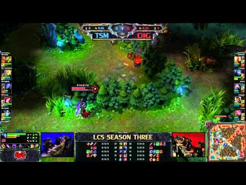 TSM vs Dignitas - LCS 2013 NA Spring W1D2 (English)