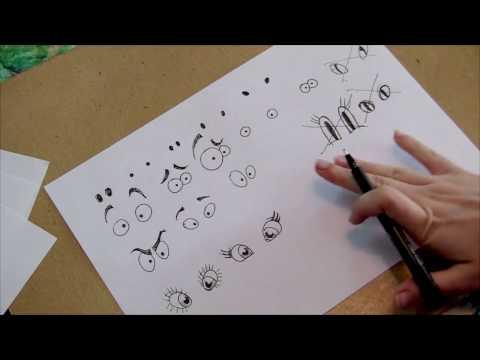 Видео как нарисовать мультяшного человека