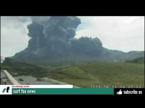 Japan (volcano) Mount Aso erupts 2015 - 日本(火山)阿蘇山は2015噴火