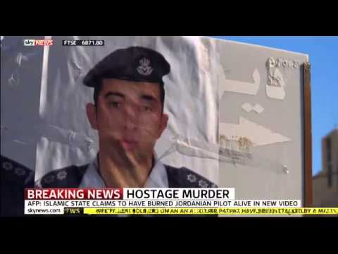 ISIS BURNS JORDANIAN PILOT ALIVE | ISIS Release Video TORCHING Captive to Death in a Cage | Burned thumbnail