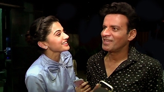 CUTE Taapsee Pannu With Manoj Bajpai At Naam Shabana Trailer Screening