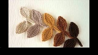 easy crochet leaf pattern