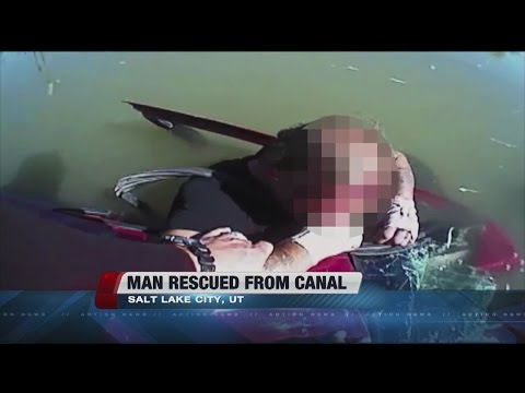 Video shows man being rescued from Utah canal