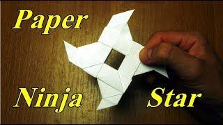 How To Make a Paper Ninja Star Shuriken Assassins Origami