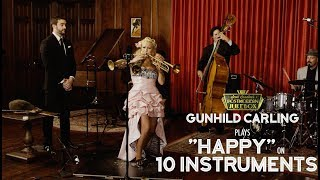 Download Lagu Happy - Pharrell Williams (on 10 Different Musical Instruments Cover) (ft. Gunhild Carling) Gratis STAFABAND