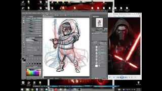 Drawing Stuff!: Star Wars' Kylo Ren Pencil and Inks