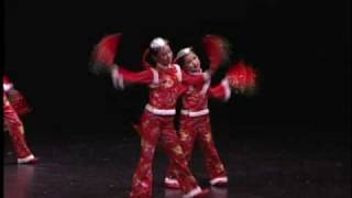 Chinese Red Ribbon Hankerchief Dance 關東年 - Jocelyn dance 7 years old