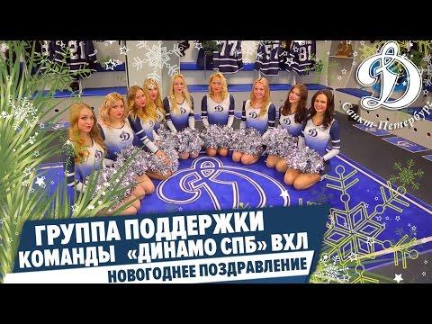 Новогоднее поздравление от группы поддержки команды ВХЛ Динамо СПб