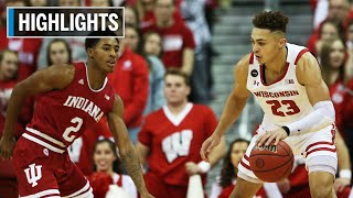 First Half Highlights: Indiana at Wisconsin | B1G Basketball