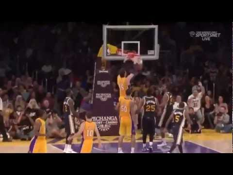 Great Team Play Ends With Pau Gasol Dunk -[Los Angeles Lakers VS Utah Jazz]-[Preseason 2012/2013]