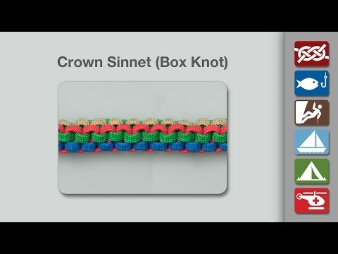Crown Sinnet | Box Knot | How to Tie a Crown Sinnet