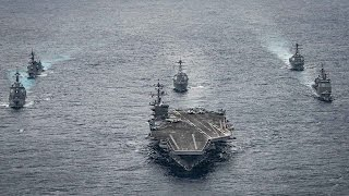 Japan TV Shows Footage of US Aircraft Carrier Just Hours Away From Korea