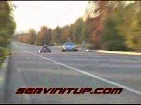 corvette vs go kart