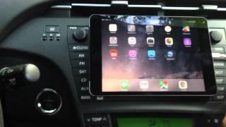 iPad mini 2 on Prius dashboard