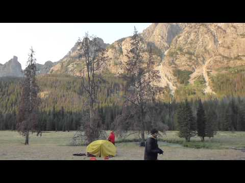 Backpacking the Wind River Range - Square Top Mountain campsite