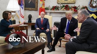 The Oval Office showdown between Trump and Schumer, Pelosi