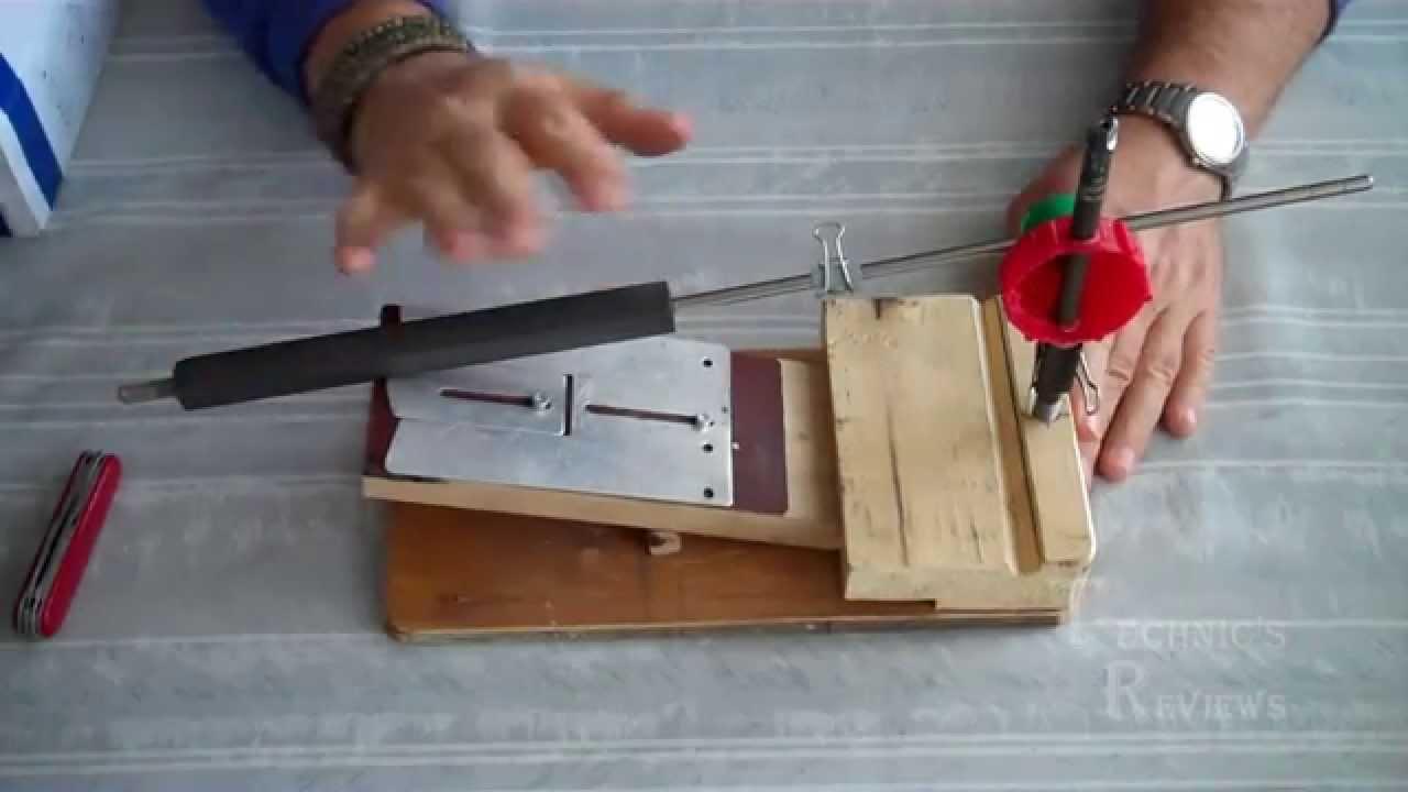 Заточка ножа самодельной точилкой - Самодельные точилки - Заточные устройства - Русскоязычный