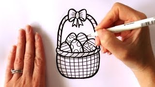 how to draw easter things step by step